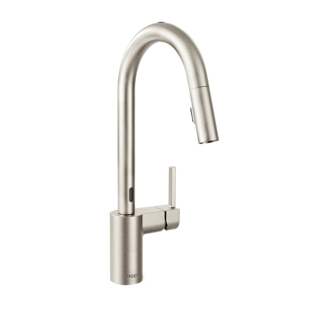 faucets sensate ac kohler vibrant p stainless in kitchen powered spray docknetik down and faucet k pull vs with sweep touchless